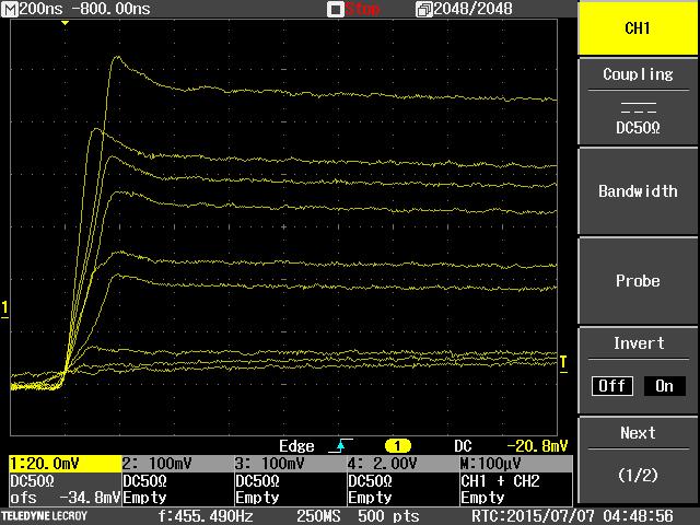 Ge Detector Signal Overshoot